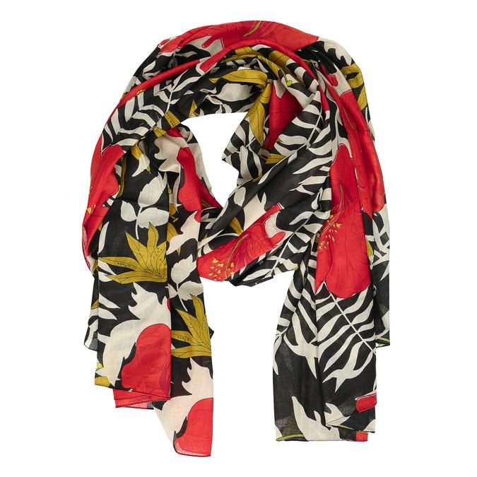 Dámské šátky s rudými květy bata, vícebarevné, 909-0243 - 16