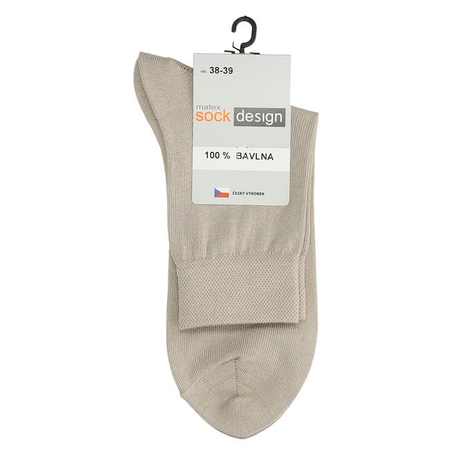 Vysoké dámské ponožky béžové matex, béžová, 919-8216 - 13