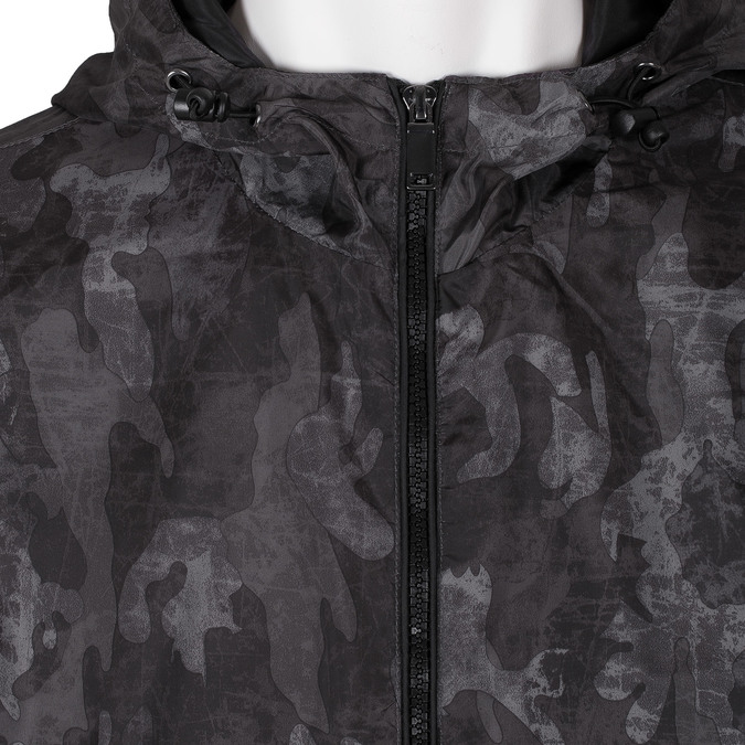 Pánská šedá bunda s maskáčovým vzorem bata, šedá, 979-2127 - 16