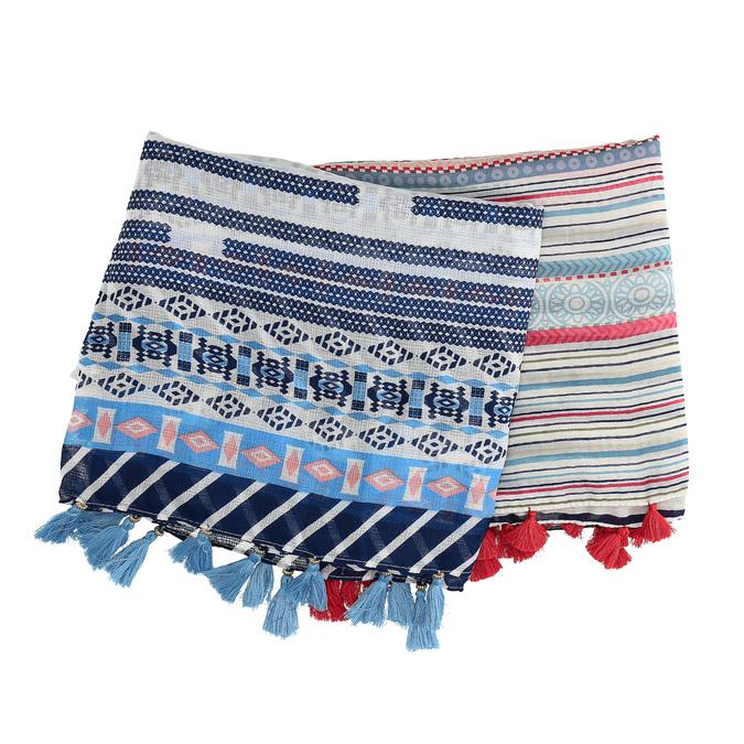 Šátky v etno stylu se střapci bata, vícebarevné, 909-0277 - 13