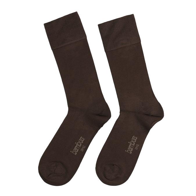 Pánské vysoké ponožky černé antibakteriální bellinda, hnědá, 919-4264 - 26