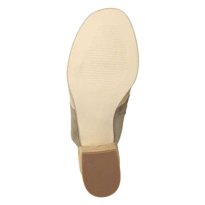 Kožené nazouváky na podpatku hnědé bata, hnědá, 666-4625 - 19