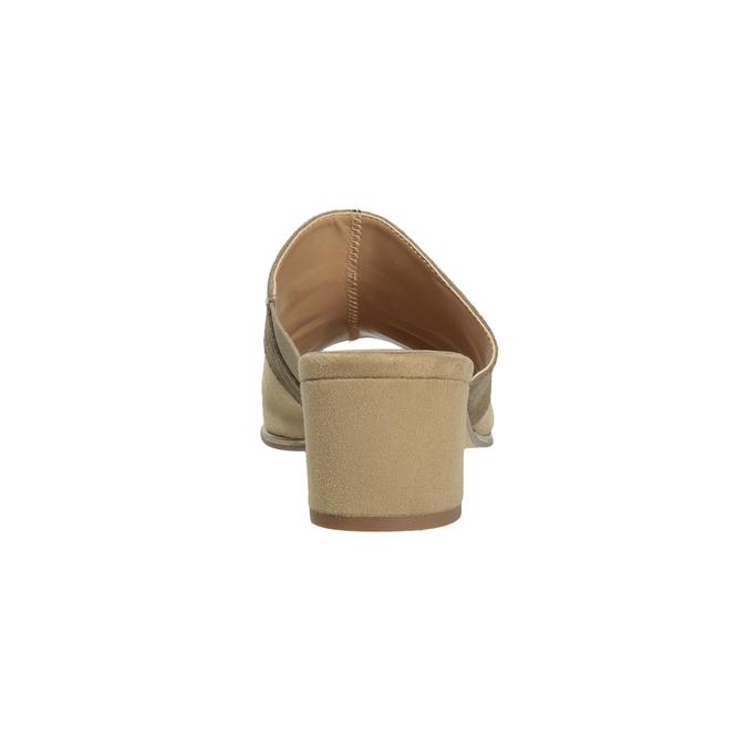 Kožené nazouváky na podpatku hnědé bata, hnědá, 666-4625 - 15