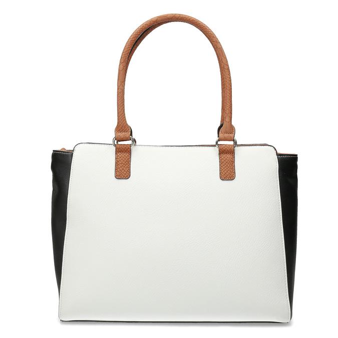 Dámská kabelka černo-bílá se zámečkem bata-red-label, vícebarevné, 961-0862 - 16