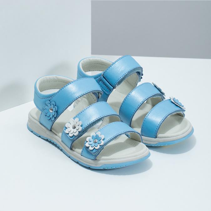 Letní dívčí sandály modré mini-b, modrá, 364-9601 - 26