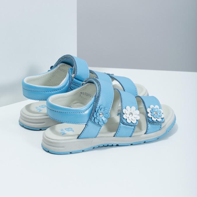 Letní dívčí sandály modré mini-b, modrá, 364-9601 - 16