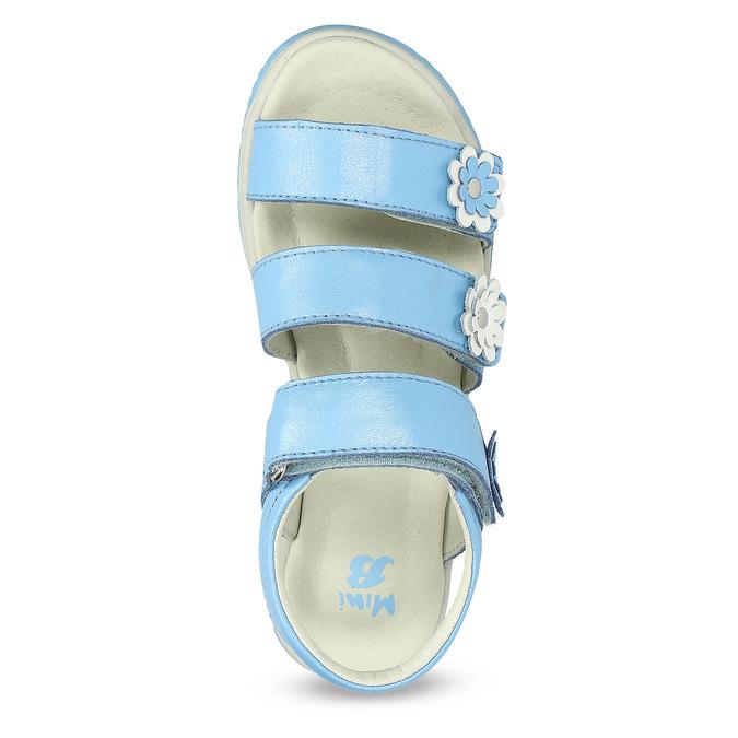 Letní dívčí sandály modré mini-b, modrá, 364-9601 - 17