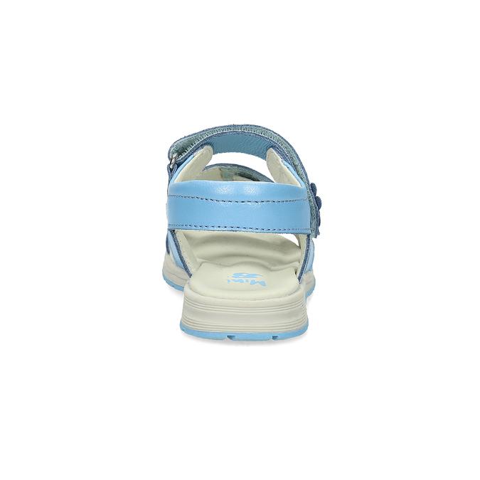 Letní dívčí sandály modré mini-b, modrá, 364-9601 - 15