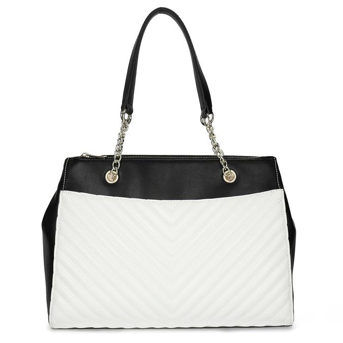 Černo-bílá kabelka s prošíváním bata-red-label, vícebarevné, 961-0863 - 26