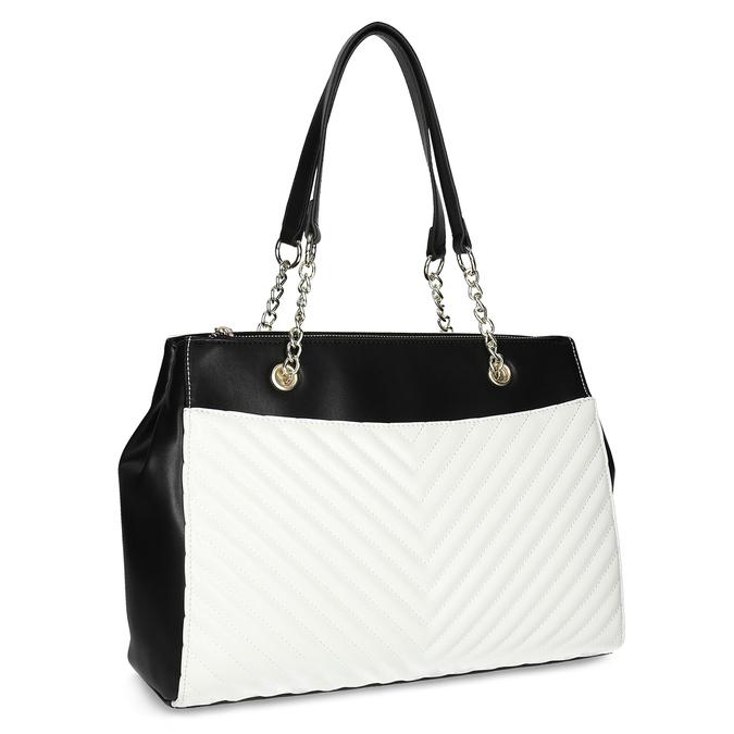 Černo-bílá kabelka s prošíváním bata-red-label, vícebarevné, 961-0863 - 13