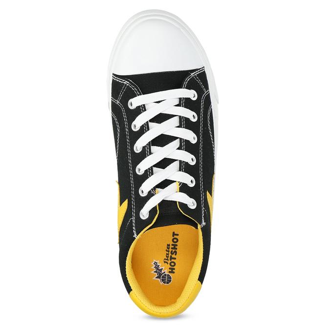 Černé tenisky se žlutými detaily bata-hotshot, černá, 889-8245 - 17