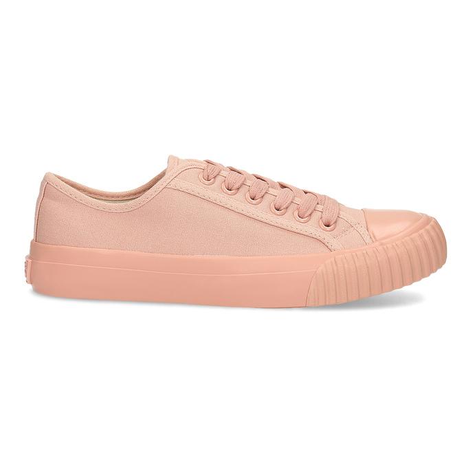 Růžové dámské tenisky s gumovou špičkou bata-bullets, růžová, 589-5333 - 19