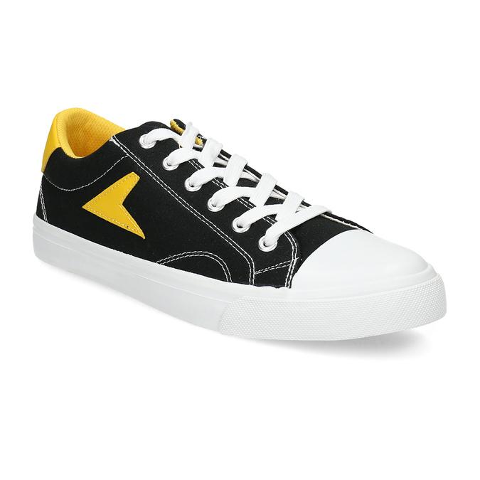 Černé tenisky se žlutými detaily bata-hotshot, černá, 889-8245 - 13