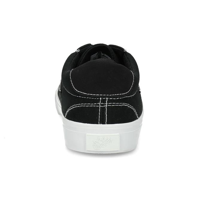 Černé pánské tenisky s bílým prošitím bata-hotshot, černá, 889-6245 - 15