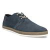 Tmavě modré kožené tenisky s perforací bata, modrá, 823-9617 - 13