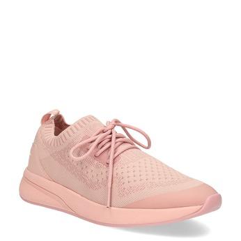 Dámské světle růžové tenisky z úpletu power, růžová, 509-5217 - 13