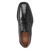 Pánské kožené polobotky s prošitím na špici bata, černá, 824-6625 - 15
