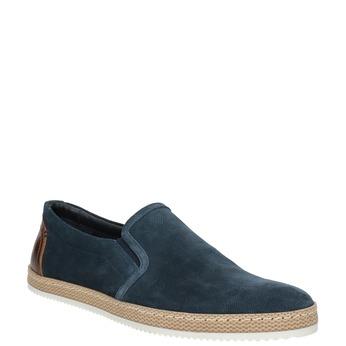 Pánské Slip-on z broušené kůže tmavě modré bata, modrá, 833-9602 - 13