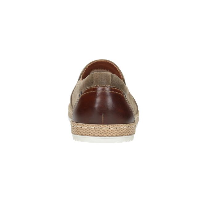 Pánské Slip-on z broušené kůže bata, béžová, 833-8602 - 16