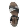 Šedo-černé kožené dámské sandály weinbrenner, černá, 566-6641 - 17