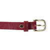 Červený kožený opasek dámský bata, červená, 954-5203 - 26