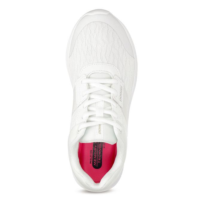 Bílé dámské tenisky sportovního střihu power, bílá, 509-1855 - 17