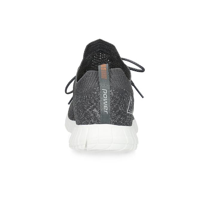 Pánské tenisky úpletové šedé power, šedá, 809-2211 - 15