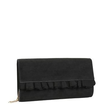 Černé psaníčko s volánem bata, černá, 969-6687 - 13