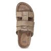 Světle hnědé pánské kožené nazouváky bata, hnědá, 866-3639 - 17