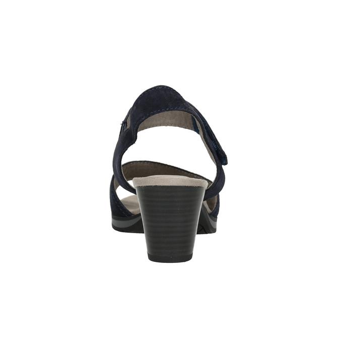 Modré kožené sandály šíře H bata, modrá, 666-9616 - 16