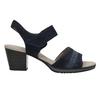 Modré kožené sandály šíře H bata, modrá, 666-9616 - 26