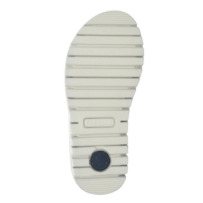 Dívčí kožené sandály s kamínky modré mini-b, modrá, 463-9603 - 19
