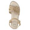 Béžové sandály s květinkou comfit, béžová, 661-8613 - 17