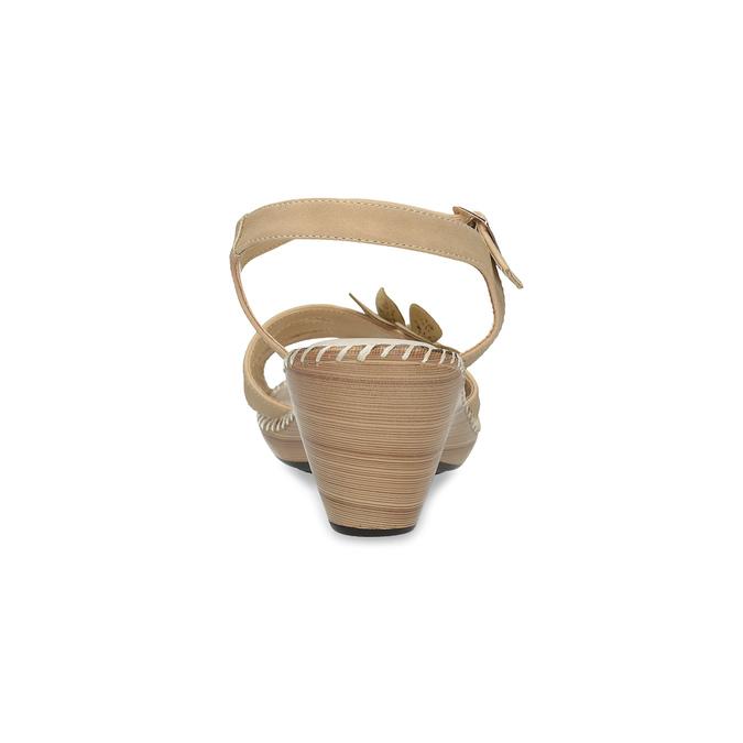 Béžové sandály s květinkou comfit, béžová, 661-8613 - 15