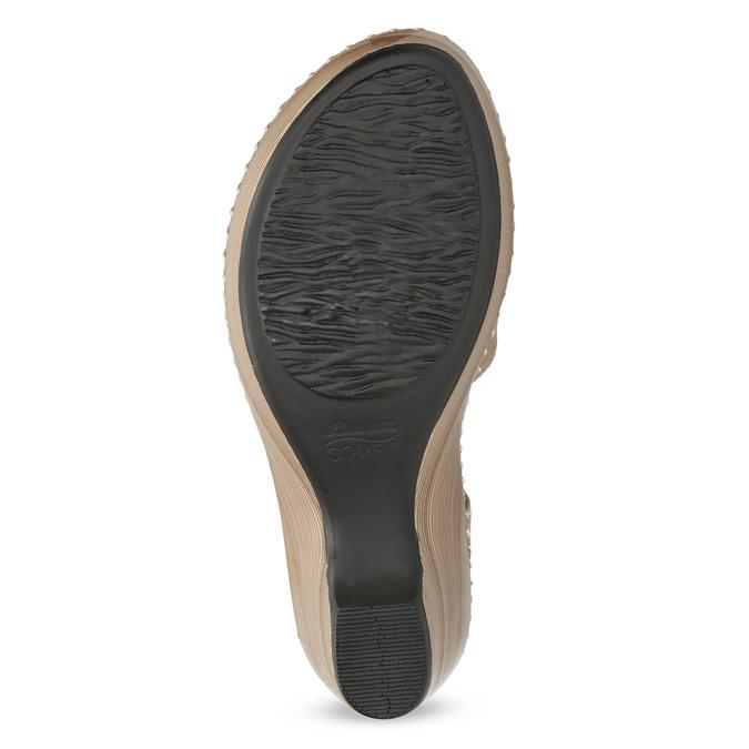 Béžové sandály s květinkou comfit, béžová, 661-8613 - 18