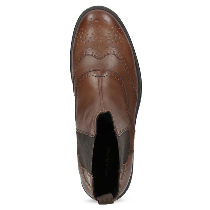 Dámská hnědá kožená Chelsea obuv vagabond, hnědá, 514-3002 - 17