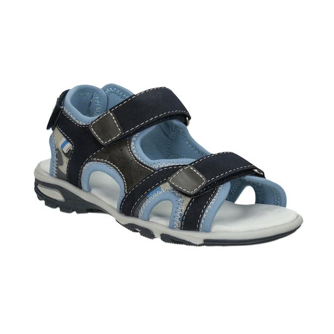 Chlapecké sandály na suchý zip modré mini-b, modrá, 261-9608 - 13