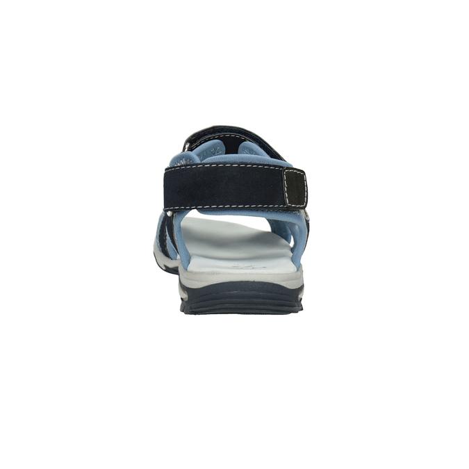 Chlapecké sandály na suchý zip modré mini-b, modrá, 261-9608 - 15
