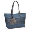 Modrá dámská kabelka se střapci bata, modrá, 969-9672 - 13