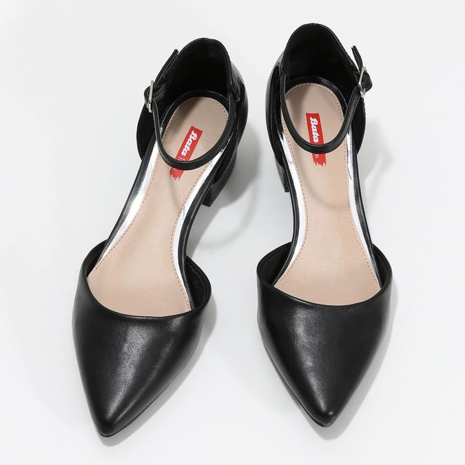 Lodičky na nízkém podpatku černé bata-red-label, černá, 621-6607 - 16