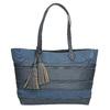 Modrá dámská kabelka se střapci bata, modrá, 969-9672 - 26
