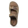 Kožené pánské sandály se suchými zipy béžové weinbrenner, hnědá, 866-2644 - 17