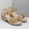 Béžové sandály s květinkou comfit, béžová, 661-8613 - 26