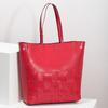 Prostorná červená kabelka s proplétáním bata, červená, 961-5236 - 17