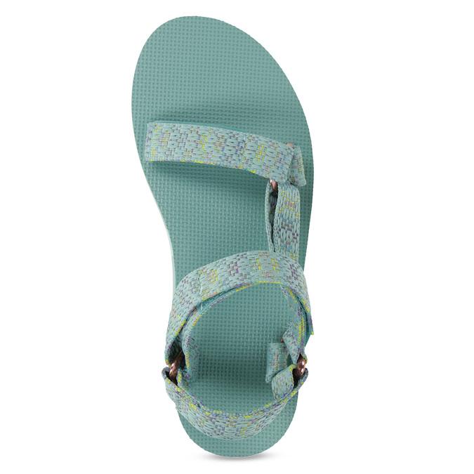 Dámské sandály v Outdoor stylu teva, tyrkysová, 569-7533 - 17