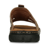 Pánské kožené nazouváky s prošitím bata, hnědá, 866-4615 - 15