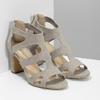 Sandály na stabilním podpatku insolia, béžová, 769-8617 - 26