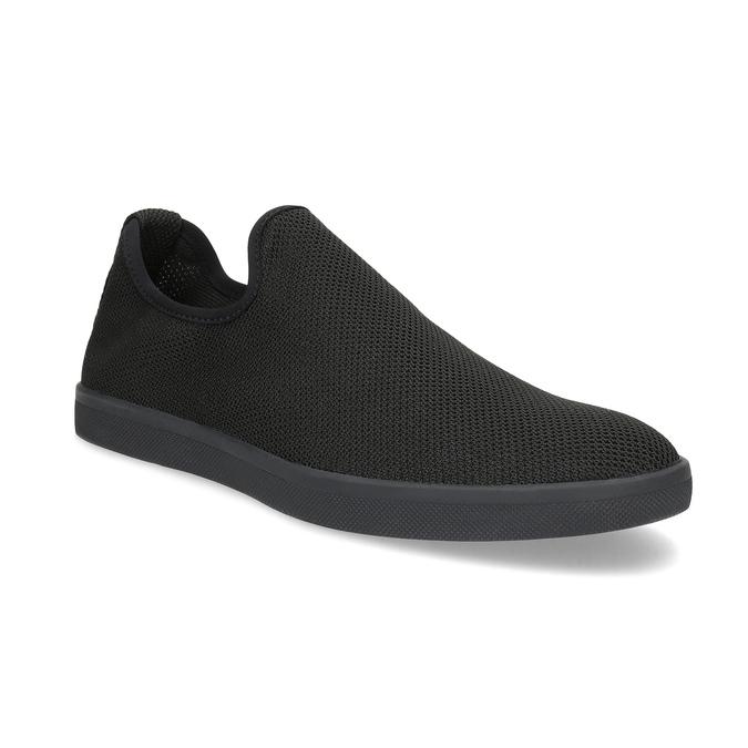 Pánské textilní Slip-on boty bata-red-label, černá, 839-6601 - 13