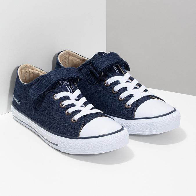 Chlapecké tenisky v denimovém stylu north-star, modrá, 419-9614 - 26