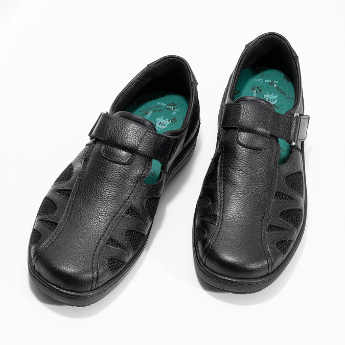 Pánské kožené sandály v elegantním designu pinosos, černá, 864-6625 - 16
